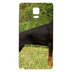 Doberman Pinscher Black Full Galaxy Note 4 Back Case