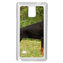 Doberman Pinscher Black Full Samsung Galaxy Note 4 Case (White)