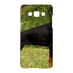 Doberman Pinscher Black Full Samsung Galaxy A5 Hardshell Case