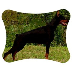 Doberman Pinscher Black Full Jigsaw Puzzle Photo Stand (Bow)