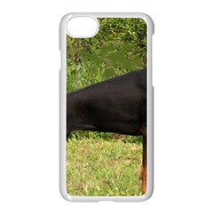 Doberman Pinscher Black Full Apple iPhone 7 Seamless Case (White)