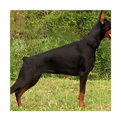 Doberman Pinscher Black Full Square Tapestry (Large)