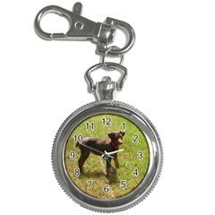 Red Doberman Puppy Key Chain Watches