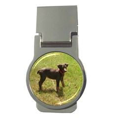 Red Doberman Puppy Money Clips (Round)