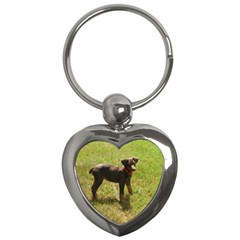 Red Doberman Puppy Key Chains (Heart)
