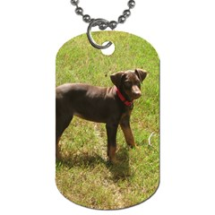 Red Doberman Puppy Dog Tag (One Side)
