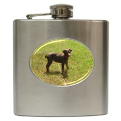 Red Doberman Puppy Hip Flask (6 oz)