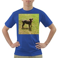 Red Doberman Puppy Dark T-Shirt