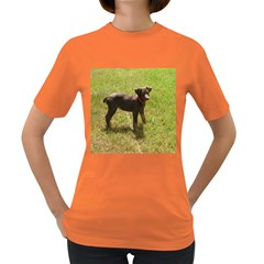 Red Doberman Puppy Women s Dark T-Shirt
