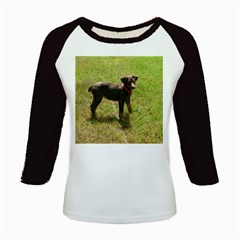 Red Doberman Puppy Kids Baseball Jerseys
