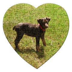 Red Doberman Puppy Jigsaw Puzzle (Heart)