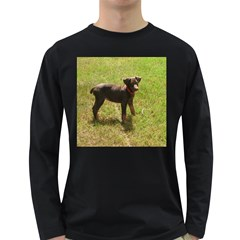 Red Doberman Puppy Long Sleeve Dark T-Shirts