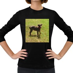Red Doberman Puppy Women s Long Sleeve Dark T-Shirts