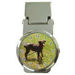 Red Doberman Puppy Money Clip Watches