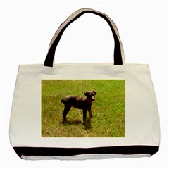 Red Doberman Puppy Basic Tote Bag (Two Sides)