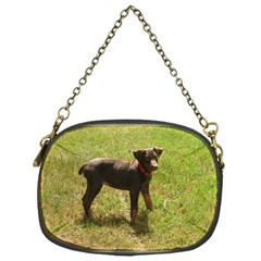 Red Doberman Puppy Chain Purses (One Side)