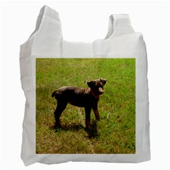 Red Doberman Puppy Recycle Bag (One Side)