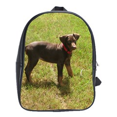 Red Doberman Puppy School Bags(Large)