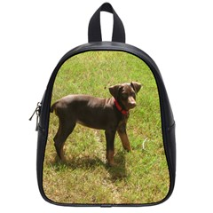 Red Doberman Puppy School Bags (Small)