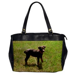 Red Doberman Puppy Office Handbags