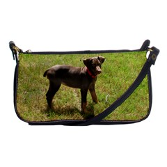 Red Doberman Puppy Shoulder Clutch Bags
