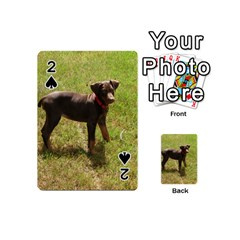Red Doberman Puppy Playing Cards 54 (Mini)