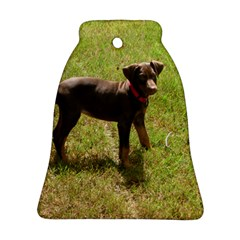 Red Doberman Puppy Bell Ornament (Two Sides)