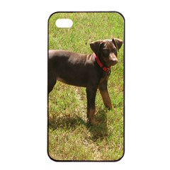 Red Doberman Puppy Apple iPhone 4/4s Seamless Case (Black)