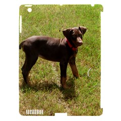 Red Doberman Puppy Apple iPad 3/4 Hardshell Case (Compatible with Smart Cover)