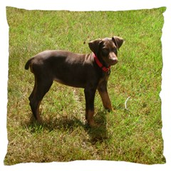 Red Doberman Puppy Large Cushion Case (Two Sides)