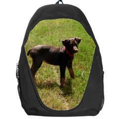 Red Doberman Puppy Backpack Bag