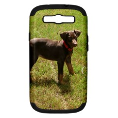 Red Doberman Puppy Samsung Galaxy S III Hardshell Case (PC+Silicone)