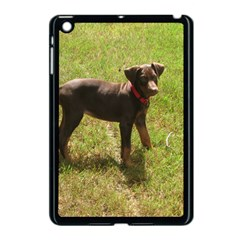 Red Doberman Puppy Apple iPad Mini Case (Black)