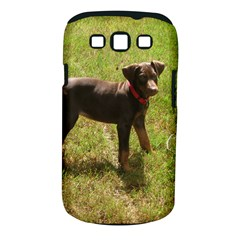 Red Doberman Puppy Samsung Galaxy S III Classic Hardshell Case (PC+Silicone)