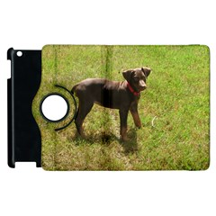 Red Doberman Puppy Apple iPad 2 Flip 360 Case