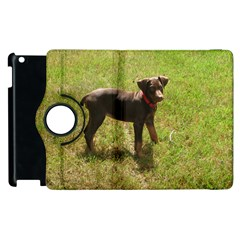 Red Doberman Puppy Apple iPad 3/4 Flip 360 Case
