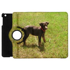 Red Doberman Puppy Apple iPad Mini Flip 360 Case