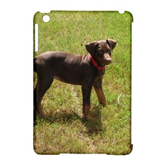 Red Doberman Puppy Apple iPad Mini Hardshell Case (Compatible with Smart Cover)