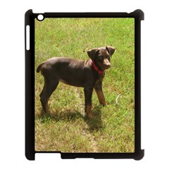 Red Doberman Puppy Apple iPad 3/4 Case (Black)