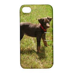 Red Doberman Puppy Apple iPhone 4/4S Hardshell Case with Stand