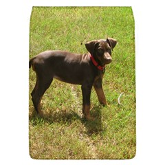 Red Doberman Puppy Flap Covers (L)