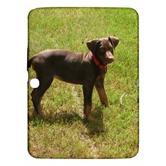 Red Doberman Puppy Samsung Galaxy Tab 3 (10.1 ) P5200 Hardshell Case