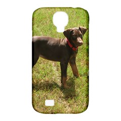 Red Doberman Puppy Samsung Galaxy S4 Classic Hardshell Case (PC+Silicone)