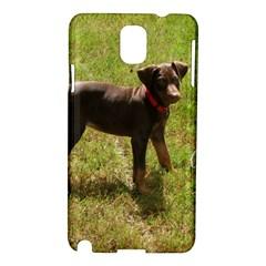 Red Doberman Puppy Samsung Galaxy Note 3 N9005 Hardshell Case