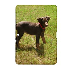 Red Doberman Puppy Samsung Galaxy Tab 2 (10.1 ) P5100 Hardshell Case