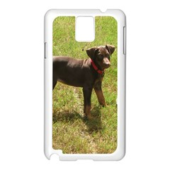 Red Doberman Puppy Samsung Galaxy Note 3 N9005 Case (White)