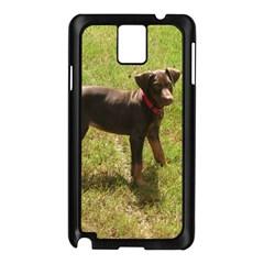 Red Doberman Puppy Samsung Galaxy Note 3 N9005 Case (Black)