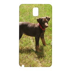 Red Doberman Puppy Samsung Galaxy Note 3 N9005 Hardshell Back Case