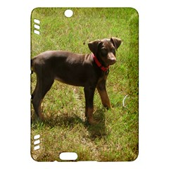 Red Doberman Puppy Kindle Fire HDX Hardshell Case
