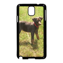 Red Doberman Puppy Samsung Galaxy Note 3 Neo Hardshell Case (Black)
